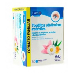 Care+ Toallitas Oftalmicas Esteriles 60  Toallitas