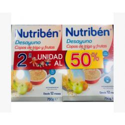 Duplo Desayuno Copos de Trigo y Frutas Nutriben