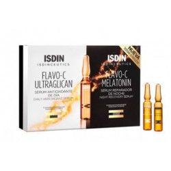 Isdinceutics Flavo-C Ultraglican + Isdinceutics Flavo-C Melatonin 10 unidades 2 ml + 10 unidades 2 M