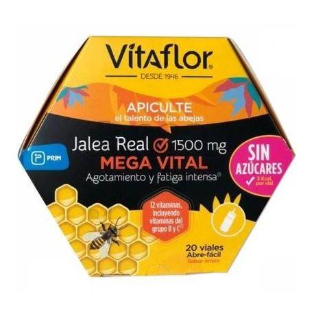 Vitaflor Jalea Real Mega Vital Ampolla Bebible 1500 mg 200 ml 20 Amp