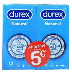 DUREX DUPLO NATURAL 12 UNIDADES 5 € DESCUENTO