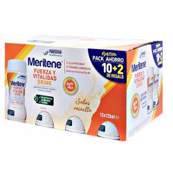 Pack Nestle Meritene Vainilla 12X125 ml.