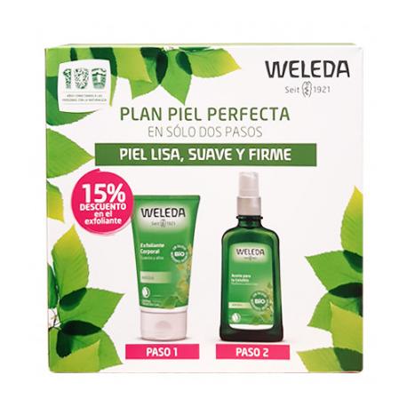 Pack Weleda Aceite+Exfoliante Piel Lisa, Suave y Firme