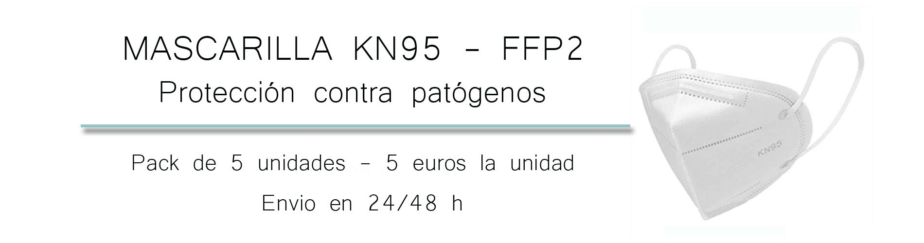 Mascarillas FFP2 - Pack de 5 unidades